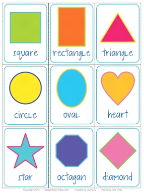 Shapes/Colors Flash Cards