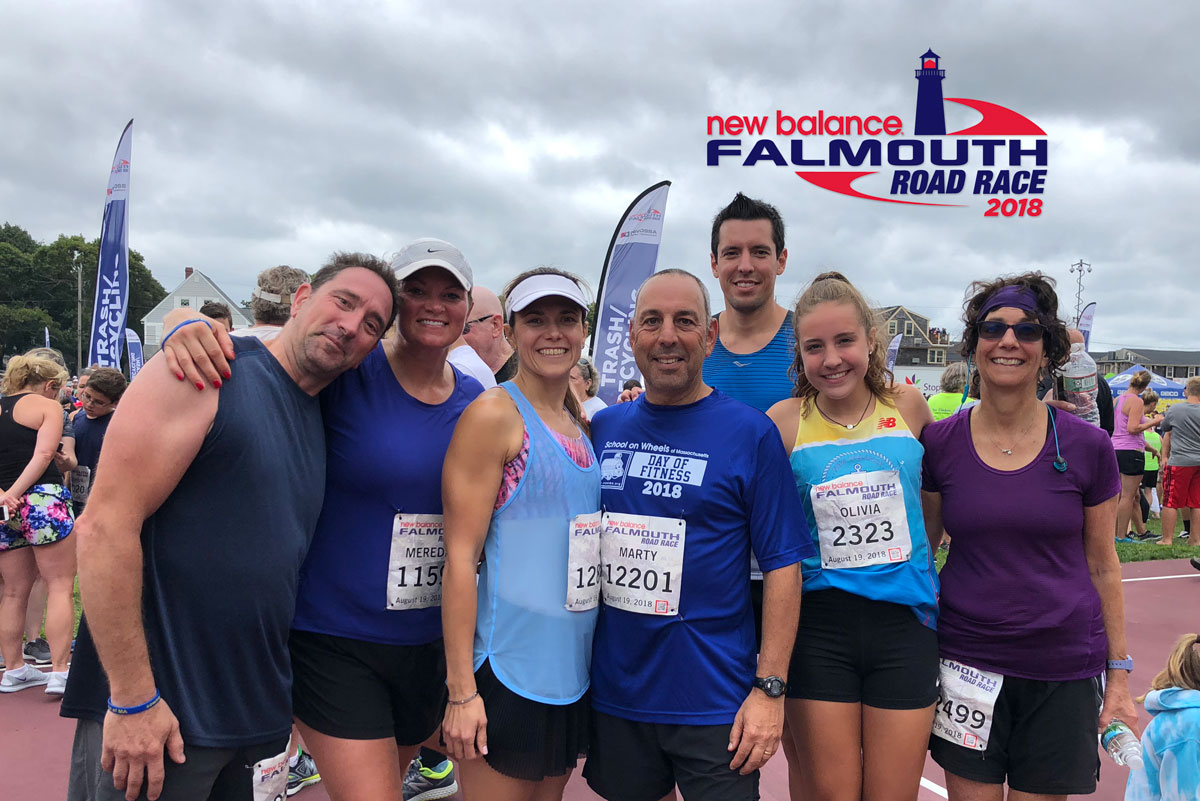 Team SOWMA runs Falmouth Road Race